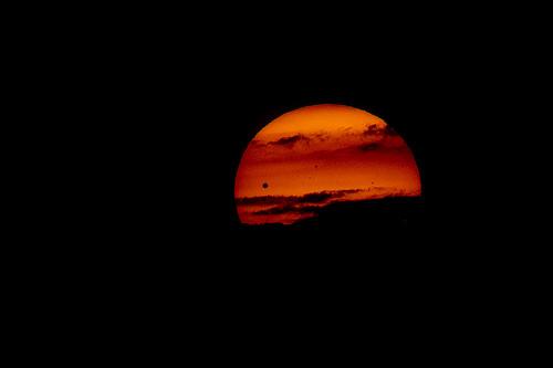 Venus transit at Sunrise