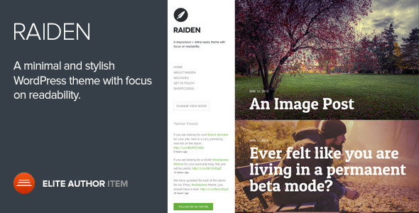 Raiden - A Minimal WordPress Theme with Style