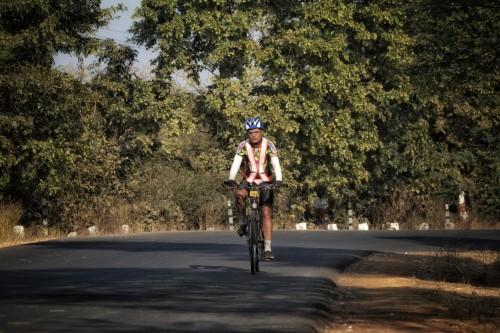 Some where near Bhandara during the 300km Brevet.