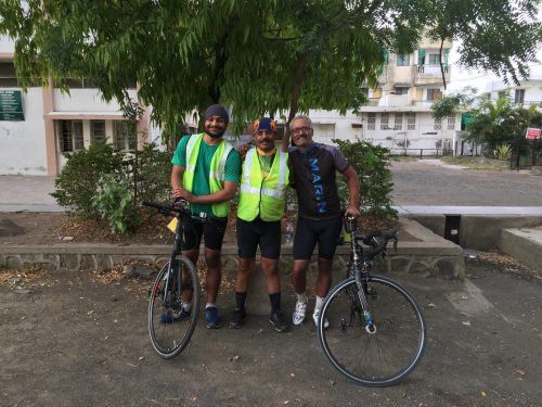 The trio who completed the brevet